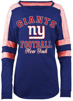 5th & Ocean Women's New York Giants Space Dye Long Sleeve T-Shirt