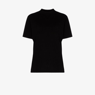 LES TIEN Mock Neck Cotton T-Shirt