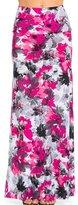 NioBe Various Printed Full Length Banded Waist Foldover Maxi Skirt