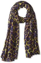 Theodora & Callum Women's Leopard Wearable Art Blanket Scarf, Lime