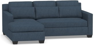 Pottery Barn York Square Arm Deep Seat Upholstered Chaise Sofa Sectional