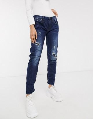 G Star G-Star arc 3d low boyfriend jean-Blue