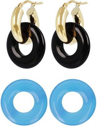 Gem Gossip Gemstone Hoop Earrings, 10K Gold