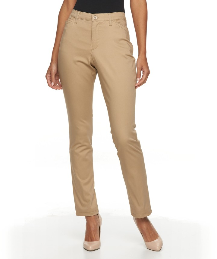 a4dd35a2aad4a Gloria Vanderbilt Beige Women's Pants - ShopStyle