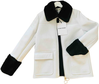 Stand Studio White Faux fur Jackets