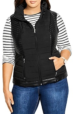 City Chic Plus Quilted Puffer Vest