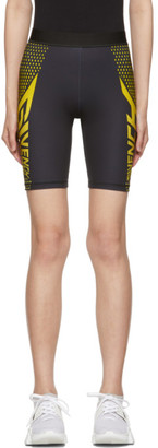 Givenchy Black and Yellow Neoprene Bike Shorts