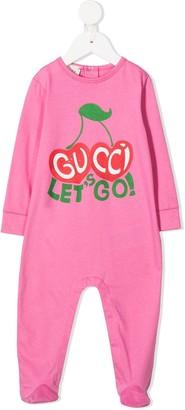 Gucci Kids Let's Go cherry-print pajamas