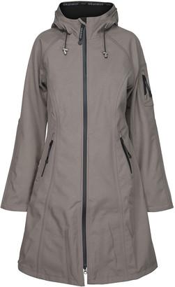 Ilse Jacobsen Rain37L Long Raincoat - Woodash - DK 38 (UK 12)