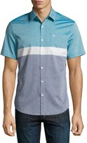 Original Penguin Colorblock Cotton Short-Sleeve Shirts, Dark Blue