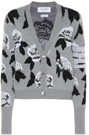 Thom Browne Intarsia wool cardigan