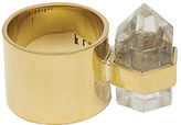 Rebecca Taylor Krystal Knight Wide Ring With Quartz