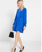 Express self tie long sleeve adjustable waist dress