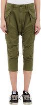Nlst Women's Harem Cargo Pants-DARK GREEN