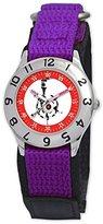 Disney Kids' D059S504 WALL-E Time Teacher Purple Velcro Watch