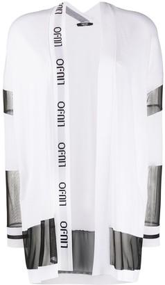 Liu Jo Oversized Sheer Panel Cardigan