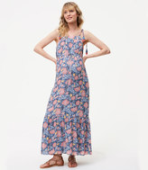 LOFT Maternity Wildflower Maxi Dress