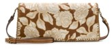 Patricia Nash Natural Embroidery Casali Flap Leather Crossbody