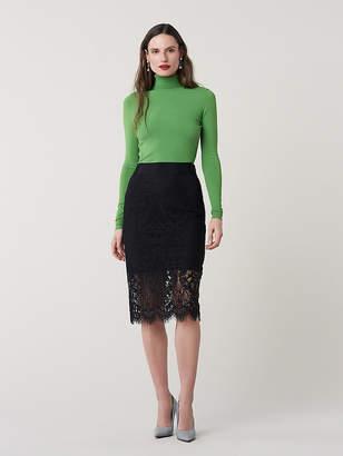 Diane von Furstenberg Lillian Lace Pencil Skirt
