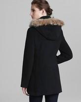 Marc New York Coat - Plush Fur Trim Hood