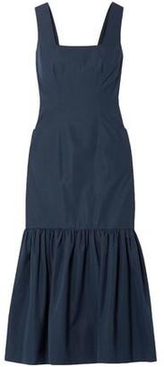 Derek Lam Gathered Cotton-taffeta Midi Dress