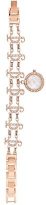 Juicy Couture Women's Rose Gold-Tone Charm Bracelet Watch, 19mm
