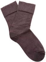 Isabel Marant Metallic-knit socks