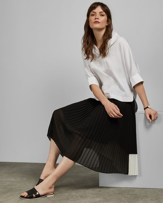 Ted Baker NARDEYA Color block pleated midi skirt