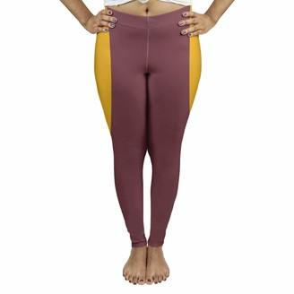 ArtVerse NFS Washington Football Stripes Women's Leggings - Suede XX Large