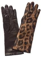 Moncler Leather-trim Gloves.