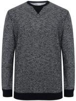 Yours Clothing BadRhino Plus Size Mens Sweater Jumper Sweatshirt Sweat Top Grey Marl Crew