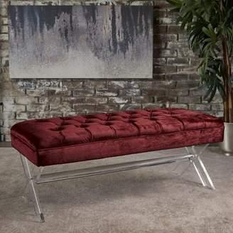 Everly Calixta Upholstered Bench Quinn Upholstery: Garnet