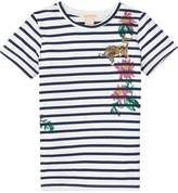 Scotch & Soda Embroidered Stripe T-Shirt