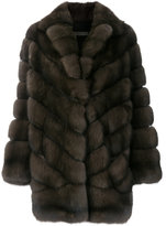Simonetta Ravizza panelled fur coat