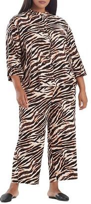 N Natori Plus Size Dune Satin Pajama Set