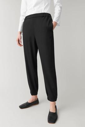 Cos Elasticated Wool-Mix Pants