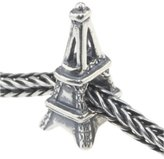 Beads Hunter Silver Charm Solid Sterling Silver Paris Eiffel Tower Charm Bead for pandora bracelet