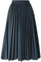 MSGM pleated denim skirt