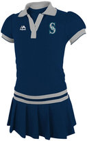 Majestic Toddler Girls' Seattle Mariners Polo Dress