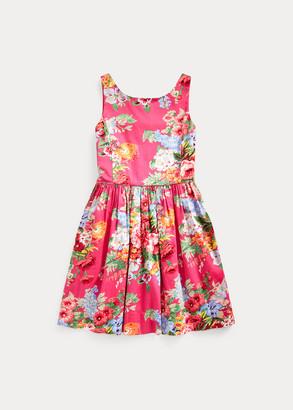Ralph Lauren Floral Cotton Sateen Dress