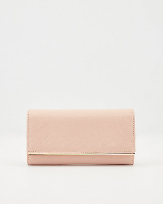 Le Château Saffiano Faux Leather Crossbody Wallet