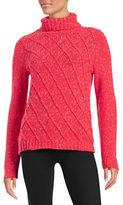 Anne Klein Diamond Grid Turtleneck Sweater