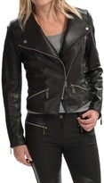 Barbour Shadow Mid Leather Jacket (For Women)