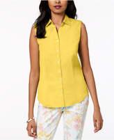 Charter Club Sleeveless Shirt, Created for Macy's