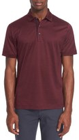 Canali Heathered Mercerized Jersey Polo