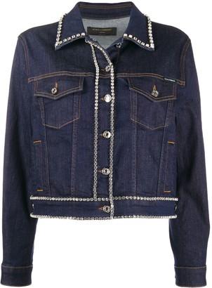 Dolce & Gabbana Crystal-Trimmed Denim Jacket