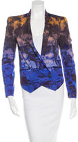 Rebecca Minkoff Abstract Print Silk Blazer