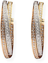 EFFY COLLECTION 14 Kt. Tri Color Gold Diamond Hoops, 0.72 CT. T.W.
