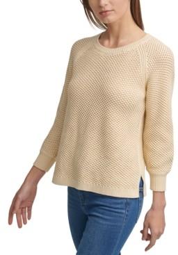 Calvin Klein Open-Weave Cotton Sweater