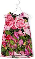 Dolce & Gabbana rose print top - kids - Silk/Spandex/Elastane - 8 yrs
